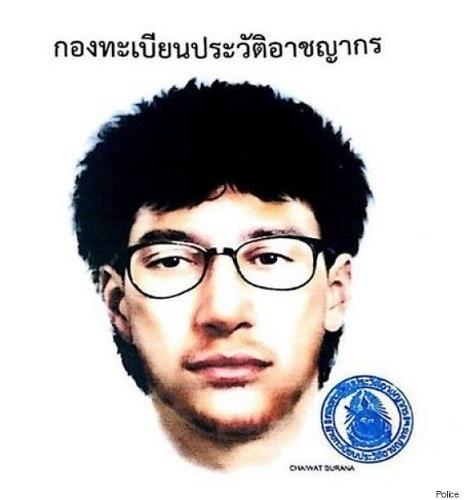 タイ爆破実行犯指名手配画像