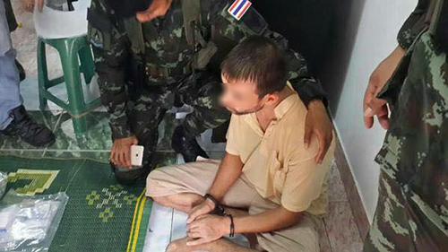 タイ爆破犯人逮捕瞬間画像