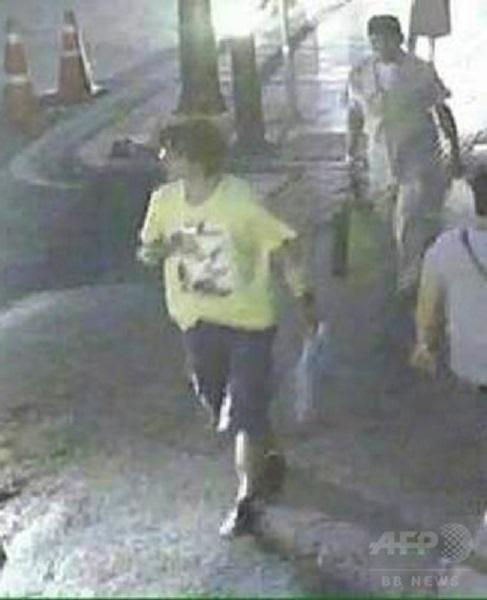 タイバンコク爆破逃げる犯人画像